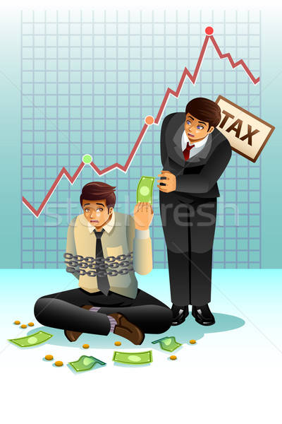 Concept of Paying Tax Stock photo © artisticco