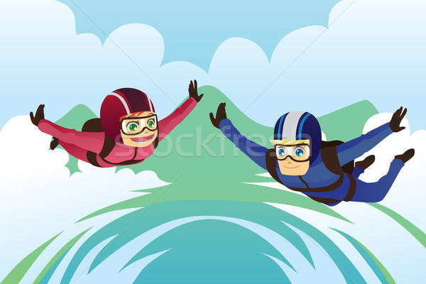 Skydiving Stock photo © artisticco