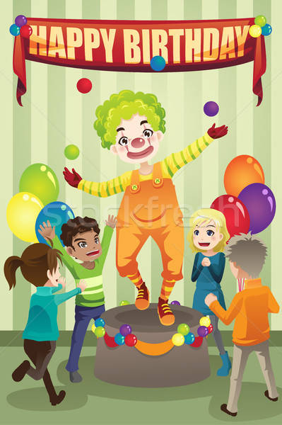 Birthday party clown Stock photo © artisticco