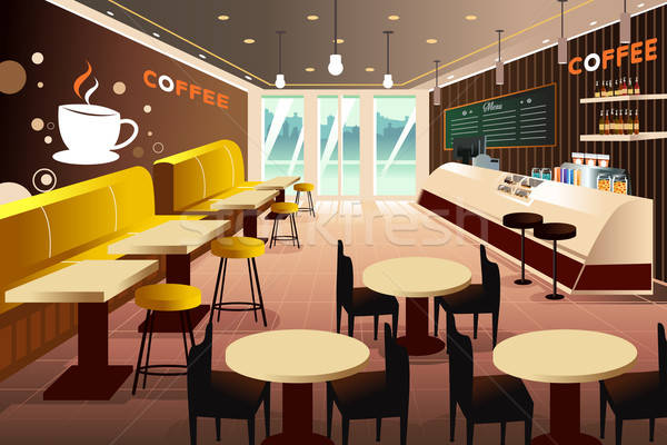 интерьер современных кофейня ресторан таблице Бар Сток-фото © artisticco
