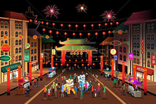 People Celebrating Chinese New Year Stock photo © artisticco