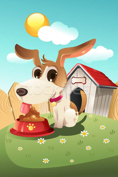 Dog in doghouse Stock photo © artisticco