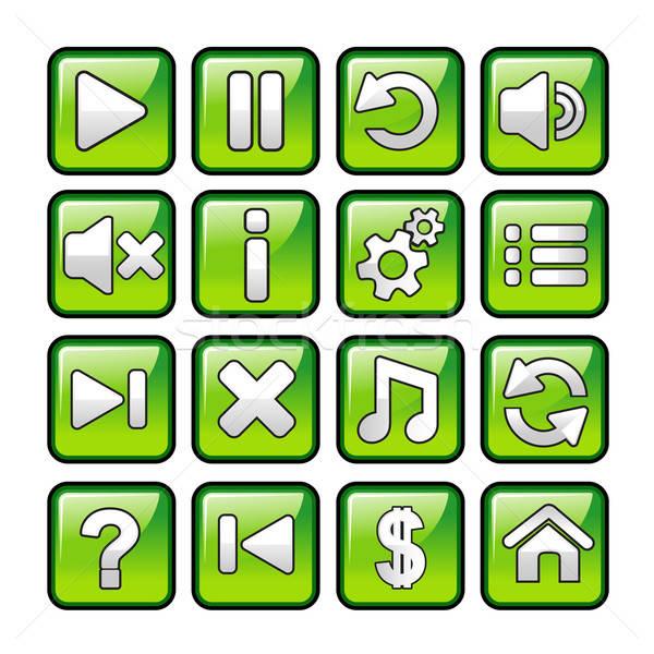 Game icons Stock photo © artisticco