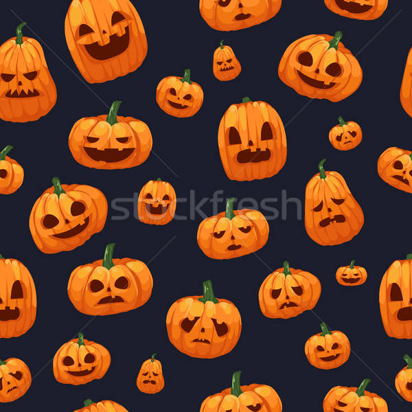 Pumpkins Jack O Lantern Seamless Wallpaper  Stock photo © artisticco