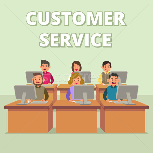 Customer Service Technical Support Team Illustration Stock photo © artisticco