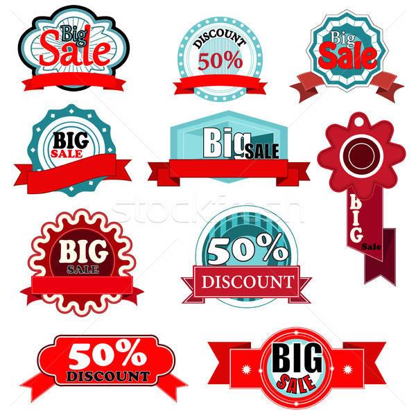 Sale icons Stock photo © artisticco