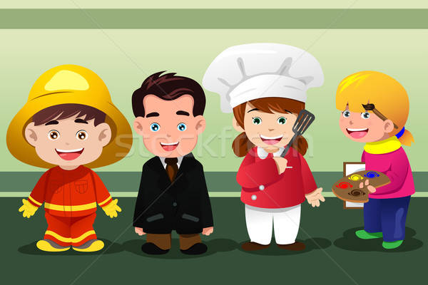 Children dressing up as professionals Stock photo © artisticco
