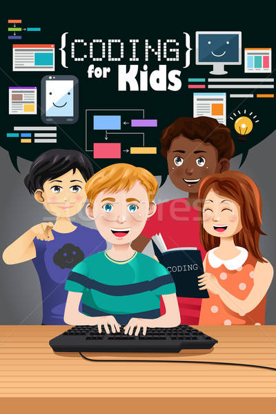 Coding for Kids Poster Stock photo © artisticco