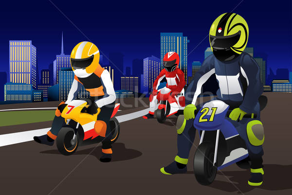 People riding motorcycle Stock photo © artisticco