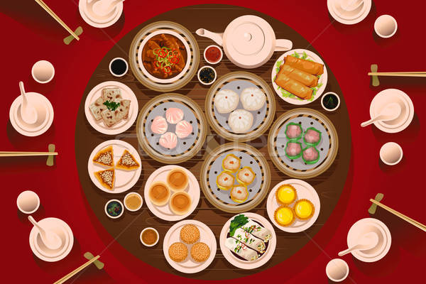 Dimsum Food on the Table Stock photo © artisticco