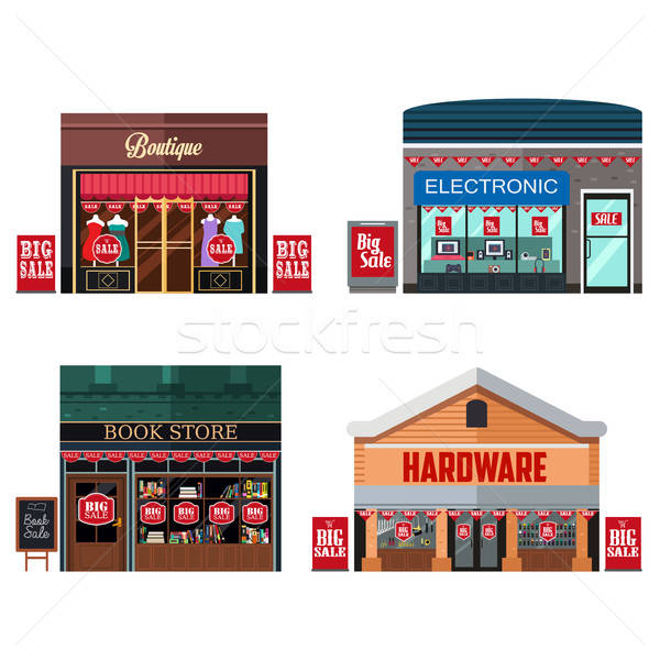 Different Stores with Sale Signs Stock photo © artisticco