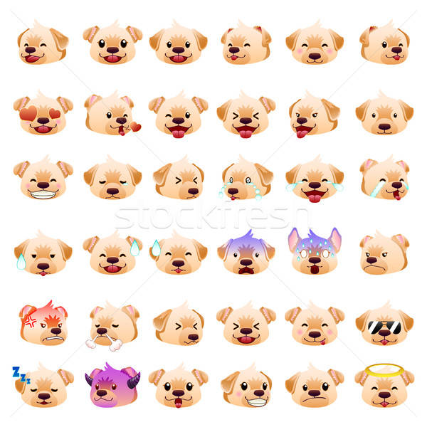 Labrador Retrievers Dog Emoji Emoticon Expression Stock photo © artisticco