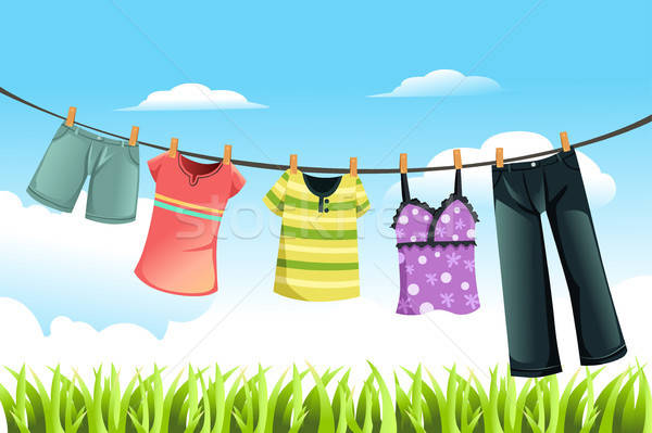 Drying clothes Stock photo © artisticco