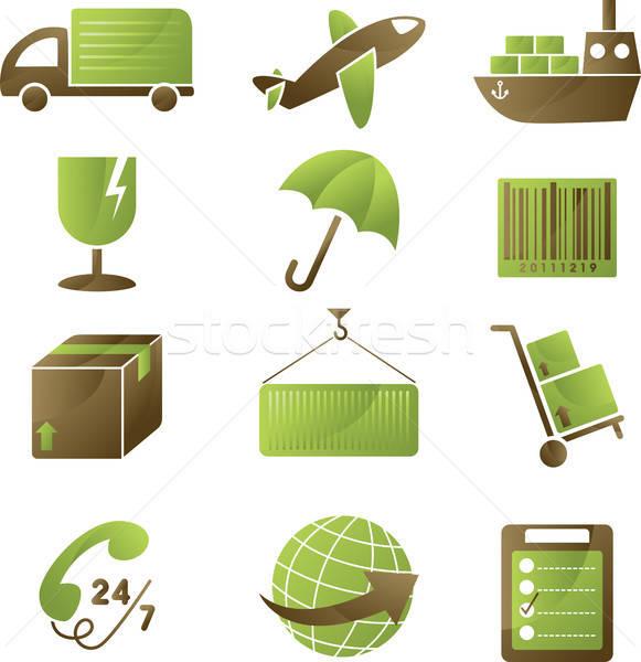 Scheepvaart iconen collectie telefoon vak industrie Stockfoto © artisticco