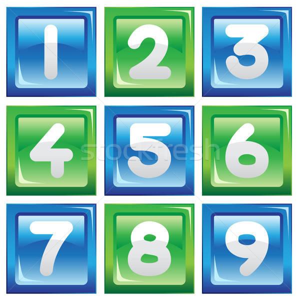 Stockfoto: Nummers · ingesteld · iconen · onderwijs · grafische