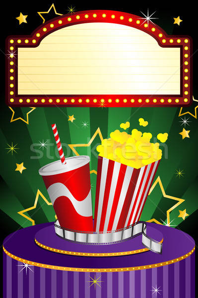 Film theater ontwerp achtergrond sterren industrie Stockfoto © artisticco