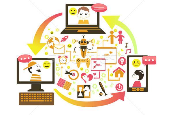 Social gaming concept Stock photo © artisticco