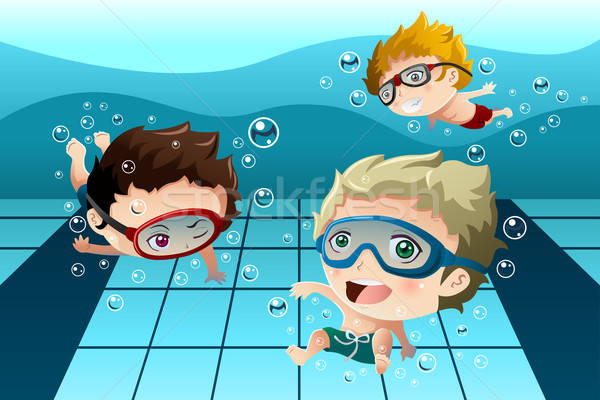 Kids having fun in the swimming pool Stock photo © artisticco