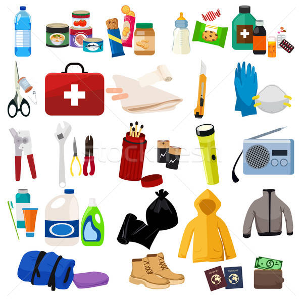Survival Kit Icons Stock photo © artisticco