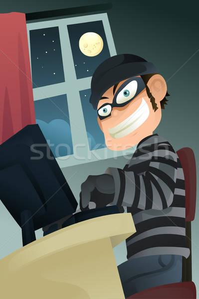 Számítógép bűnöző lop arculat férfi férfi Stock fotó © artisticco