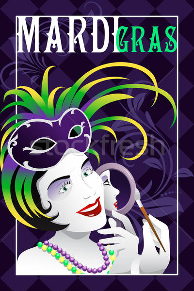 Mardi Gras poster Stock photo © artisticco