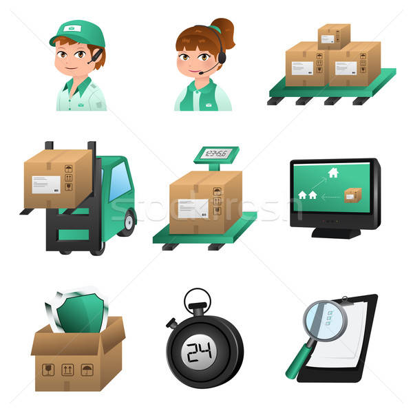 Logistic icons Stock photo © artisticco