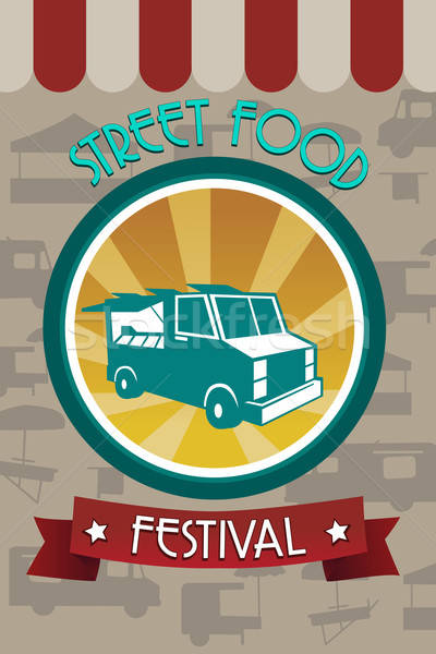 Street food festival pamphlet Stock photo © artisticco