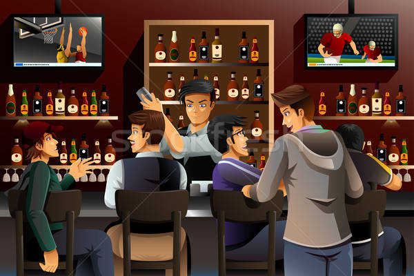 People Hanging out in a Bar Stock photo © artisticco