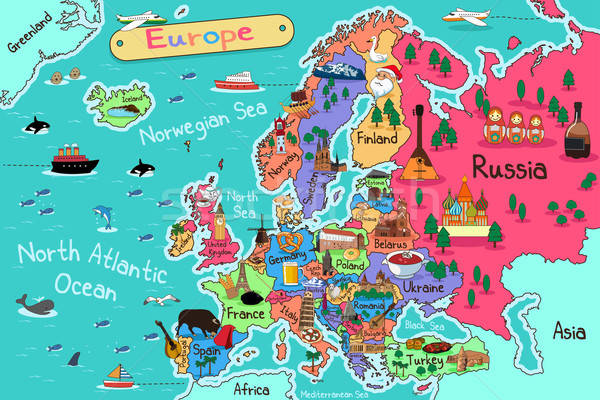 Europe Map Stock photo © artisticco