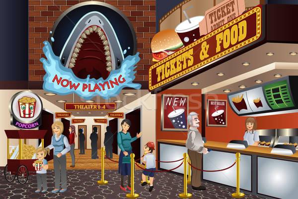 люди фильма театра ждет купить билеты Сток-фото © artisticco