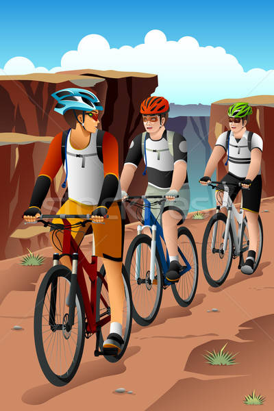 Bikers in the Mountain Stock photo © artisticco