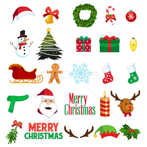 Christmas Winter Clipart Icons Stock photo © artisticco