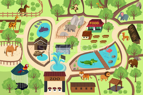 Map of a zoo park Stock photo © artisticco