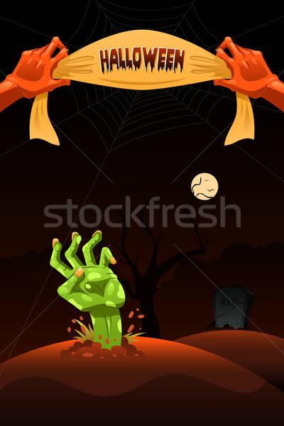 Halloween ontwerp achtergrond nacht najaar tekening Stockfoto © artisticco