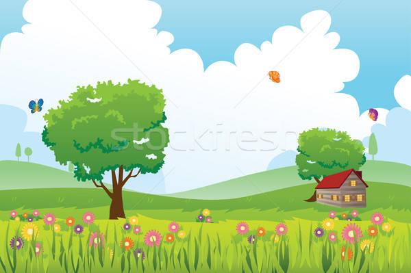 Spring season nature landscape Stock photo © artisticco