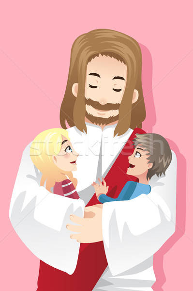Jesus loves kids Stock photo © artisticco