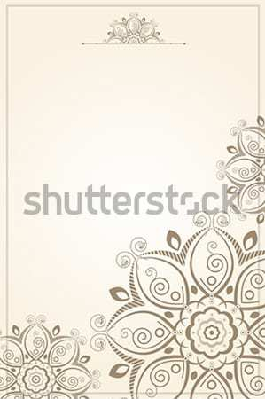 Floral pattern paper background Stock photo © artisticco