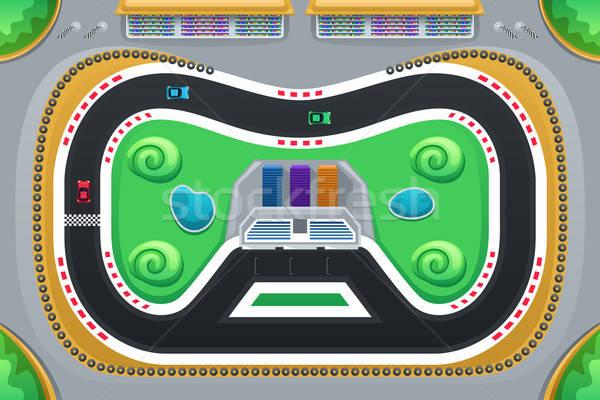 Auto racing spel boven snelheid race Stockfoto © artisticco