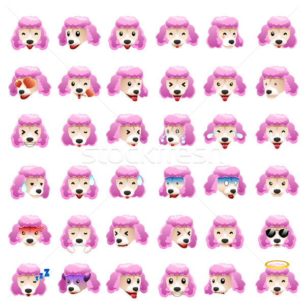 Poodles Dog Emoji Emoticon Expression Stock photo © artisticco