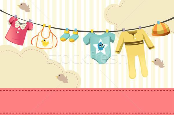 Baby clothings Stock photo © artisticco