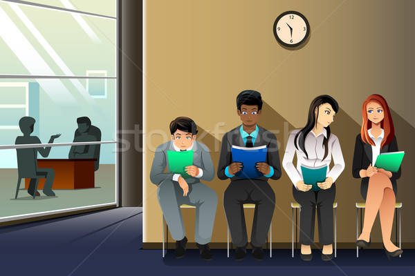 People waiting for job interview Stock photo © artisticco