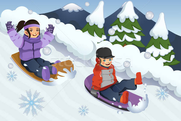 Free Sledding Clipart and Vector Graphics  Clipartme