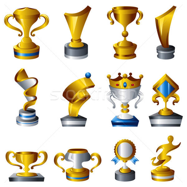 трофей иконки икона вектора премия иллюстрация Сток-фото © artisticco