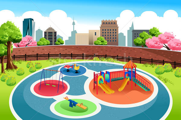 Playground in the City Background Stock photo © artisticco