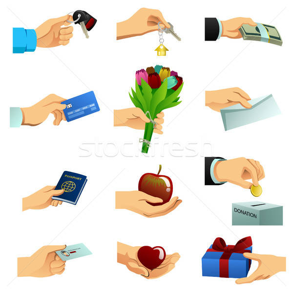 Hand Doing Different Things Illustration Stock photo © artisticco