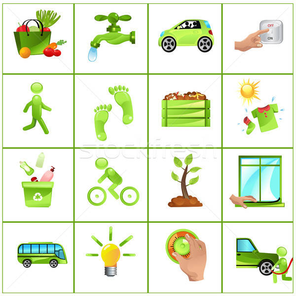 Go green concept icons Stock photo © artisticco