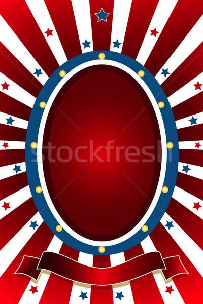 American patriotic background Stock photo © artisticco