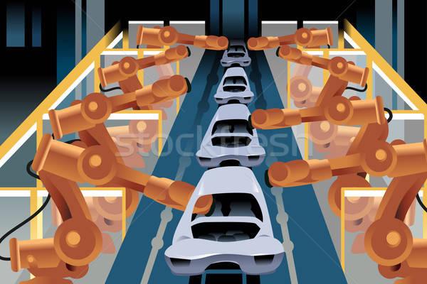 Automobile assembly line Stock photo © artisticco