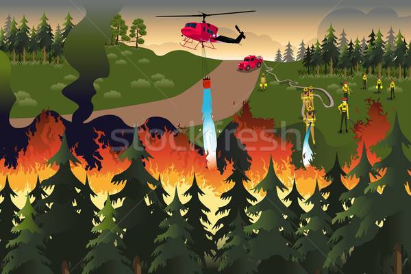 Forest Firefighters Stock photo © artisticco