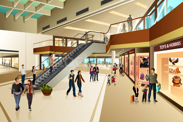 Scene Inside Shopping Mall Stock photo © artisticco